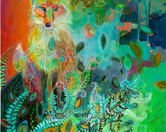 i am the forest path - Fine Art Print by Jenlo