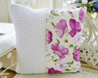 Pillow cover shabby Poppy flowers