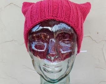 Raspberry Kitty Kat Hat