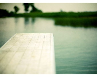 Water Photograph - Diving Board - Michigan Art - Feels Like July -  Fine Art Photograph - Landscape Photography - Alicia Bock -Oversized Art