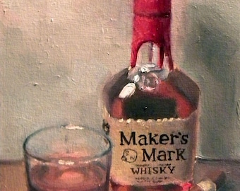 "Whiskey Painting 8""x10"" Digital Print"