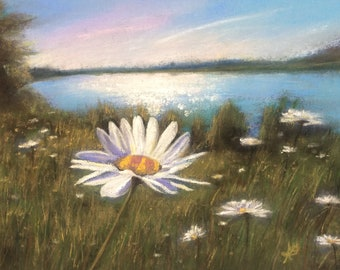 Daises By The Lake