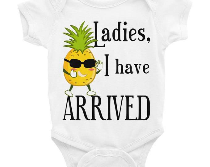Ladies, I Have Arrived Cute Infant Bodysuit Onesie | Ladies I Have Arrived Onesie Baby Boy Onesie Baby Bodysuit |Baby Boy Coming Home Outfit
