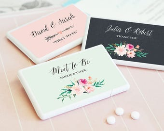 Mint to Be Wedding Favor - Mint to Be Bridal Shower Favor - Wedding Mint Favors - Mint to Be Favor Mint to Be Mints Pack (EB2211GDN)- 12|pcs