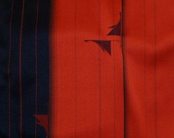 Vintage Japanese Silk Kimono Fabric Flying Cranes
