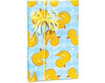 Ducky Waves Gift Wrap Wrapping Paper-18ft Roll w. 20Gift Tags