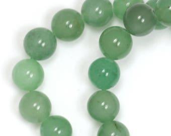 Green Aventurine (Grade C) Beads - 8mm Round