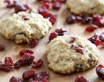 Oatmeal Cranberry Cookies (Natural, Gluten-Free, Vegan, Organic)