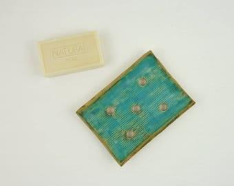 ceramic soap dish drain, blue bathroom soap dish, draining soap holder saver rest tray