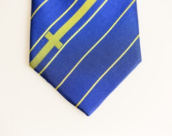Sweden Tie - Inspired by the Sweden Flag with Personalized Tag. Swedish Tie. Svergie. LDS Missionary. Husband Gift, Missionary Gift.