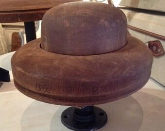 Vintage Bowler Hat Form