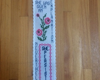 Nevertheless She Persisted Cross Stitch Bookmark Pattern % of Proceeds to Charity