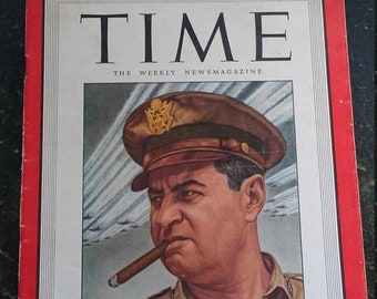 Spring Sale Vintage WW2 1945 Time Magazine Lemay of the B 29s