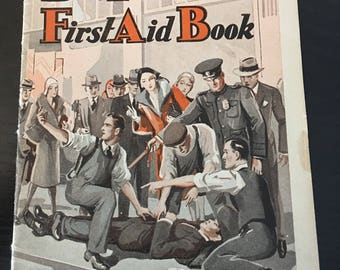 First aide pamphlet from 1940's