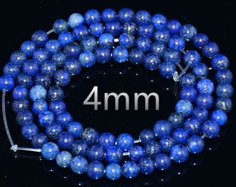 Lapis lazuli - drilled - 4/6/8/10/12 / 14mm to choose from following thread - size about 85/65/45/35/30/25 beads