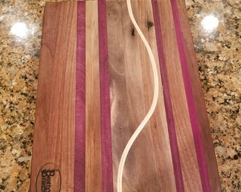 Black Walnut and Purple Heart Cutting Board