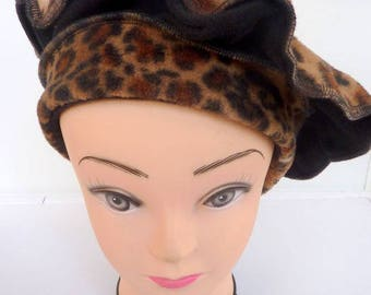 "Beautiful beret pattern ""KRUGER"" gorgeous fleece"