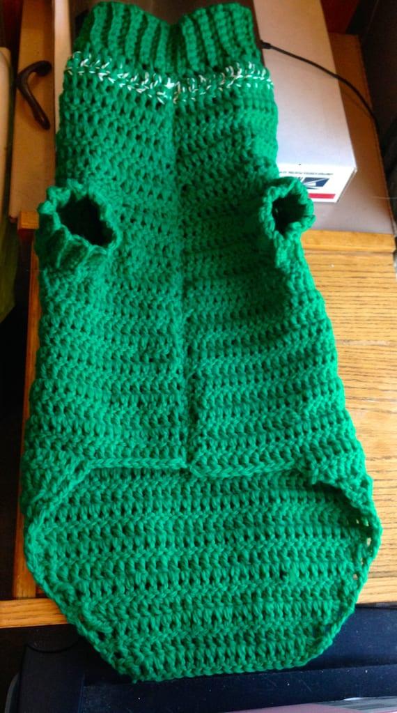 X Large Handmade Dog Sweater Crocheted Large Size