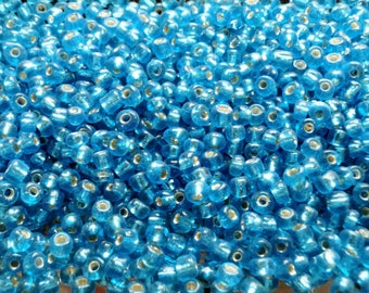 5mm deep turquoise blue seed beads