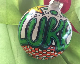 Personalized ornament name for 2018