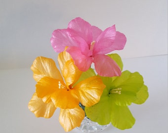 Edible Wafer Paper Tropical Fantasy Hibiscus for Cakes