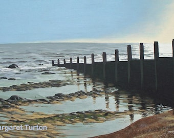 The English Shore, acrylic painting on canvas