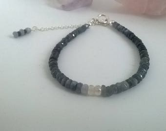 Sapphire and sterling silver bracelet