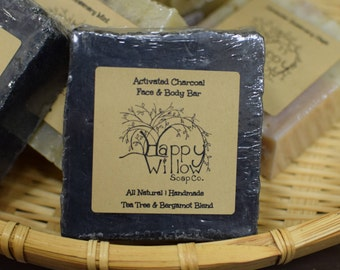 Activated Charcoal ~ handcrafted ~ coconut milk soap ~ tea tree soap
