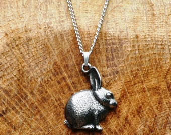 Rabbit Bunny Pewter Necklace & Pendant Ladies Gift