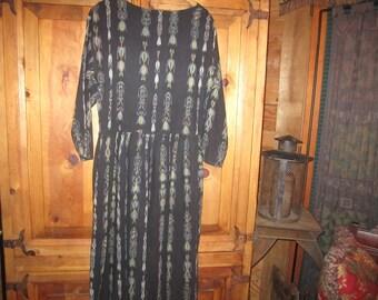 Vintage Hippie Dress 1970s