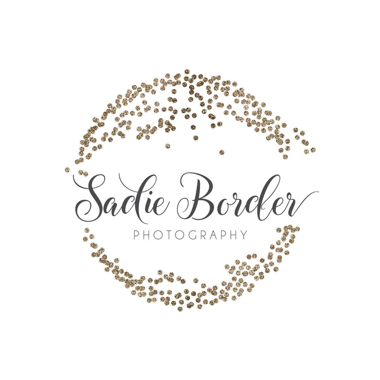 Glitter Circle Logo Premade Photography Logo and Watermark