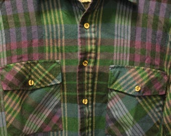 Vintage 80's Flannel Shirt | Size Medium