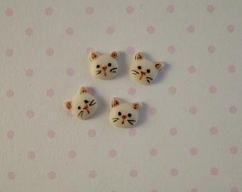 Cat Head Embellishment set of 4