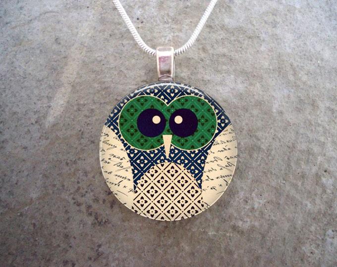 Owl Jewelry - Glass Pendant Necklace - Owl 2