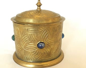 Vintage Brass Container with lid