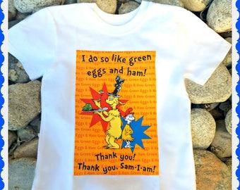 girls boys dr seuss green eggs ham shirt authorized Robert Kaufman fabric 2T 3T 4T 4/5 6/6X 7/8 10/12 14/16 S M L XL 2X 3X