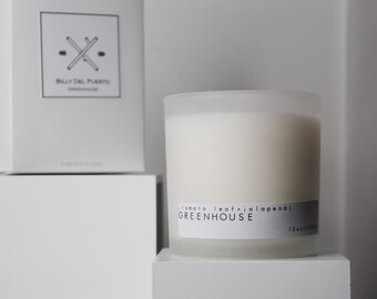 Greenhouse // tomato leaf scented soy candle