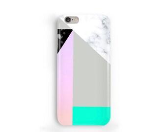 Sweet Marble Phone Case, iPhone 7, 6, 6s, Plus, SE, 5s, 5c, geometric gradient block phone case, Samsung, S8, S8 Plus, Google Pixel, Green