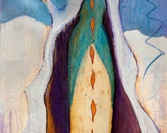 Small Print Goddess Art - The Cailleach, Queen of Winter