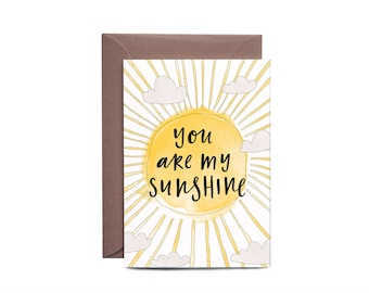 You Are My Sunshine Illustrated Greeting Card