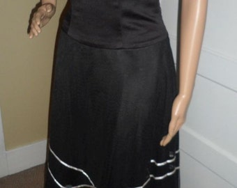 Size 6 Strapless Black Dress by Forever Yours