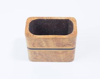 Wooden Inlay Office Desk Storage Box