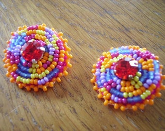 Carioca embroidered earrings