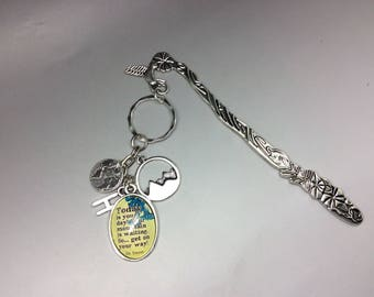 """Dr Seuss Bookmark, Dr Seuss Quote, Dr Seuss Jewelry, Dr Seuss Jewellery, """"Today is your day, your mountain is waiting so get on your way"""""""
