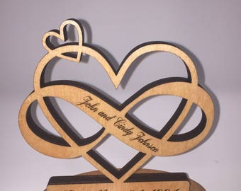 Wedding Date Infinity Heart