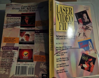 LASER Video File Spring / Summer 1995 Laser Disc Catalog 5 1/4 x 8 1/4 format; Massive 424 pgs! Movie Photo, Cast, Plot Synopsis; Reference