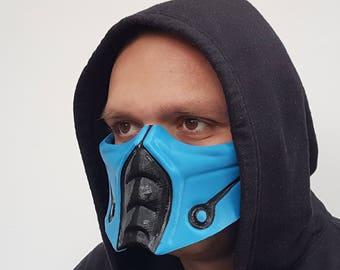 Mortal Kombat Mask Sub-Zero, Cosplay, Halloween Costume, Air Soft Mask, Print 3D, Christmas Gift.