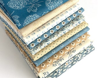 Blue Sky Fat Quarter Bundle - 10pc - from Edyta Sitar, 10 fat quarters, Fabric for Quilting