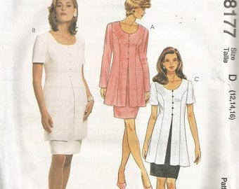 McCall's 8177 Dress Pattern SZ 12-16