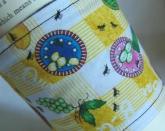 Coffee Cup Sleeve Cozy Picnic Print with Ants